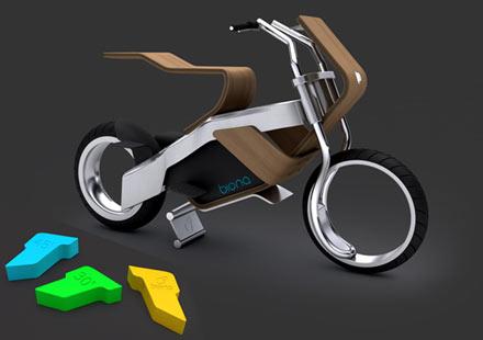 Biona – дървен мотоциклет с джобни батерии