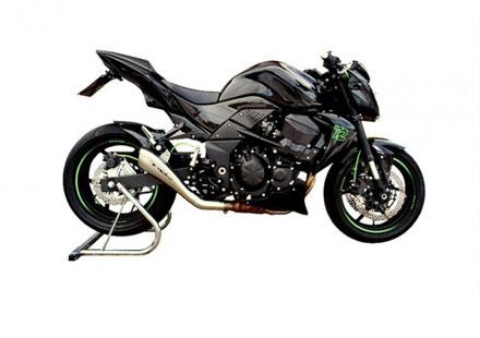 Kawasaki Z750 с ауспух от HP Racing