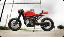 От супермото в Кафе рейсър - KTM 525 EXC Café Moto 06