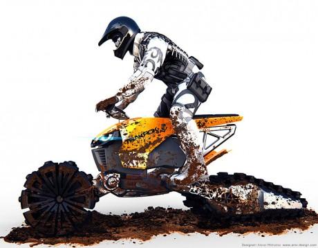 3 в 1 - концепция от Алексей Михайлов за дърт байк, ATV и снегомобил 05