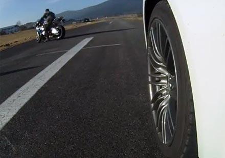 Мотор VS автомобил: BMW S1000RR, F800 и R1200GS срещу BMW M3 и M5