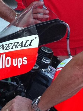 Алуминиево шаси за Валентино Роси на MotoGP Арагон 01