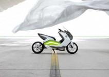 Концепцията за електрически скутер на BMW с камери за задно виждане 03