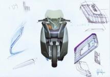 Концепцията за електрически скутер на BMW с камери за задно виждане 04