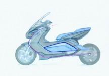 Концепцията за електрически скутер на BMW с камери за задно виждане 05