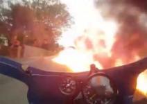 Подпалих се на пистата