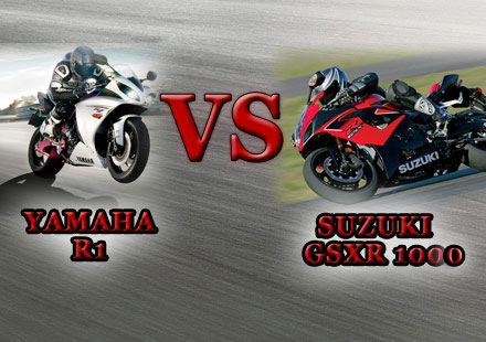 Сравняване на мотоциклети Yamaha YZF-R1 и Suzuki GSXR 1000