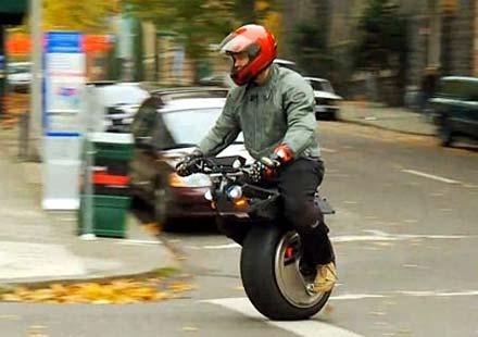 Електрически мотоциклет с едно колело
