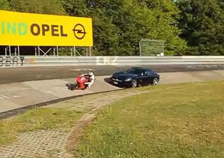 Ducati 1198 SP VS Mercedes AMG SLS