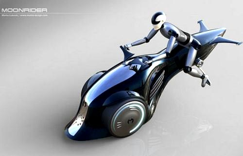 Хибриден мотоциклет лети над пътя с реактивен двигател 01