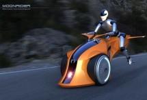 Хибриден мотоциклет лети над пътя с реактивен двигател 02