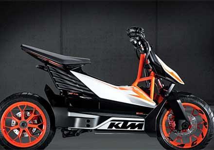 KTМ представиха концептуален модел на електрически скутер