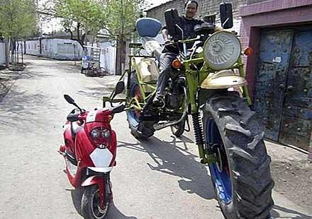 Китайски мотоциклет-трактор