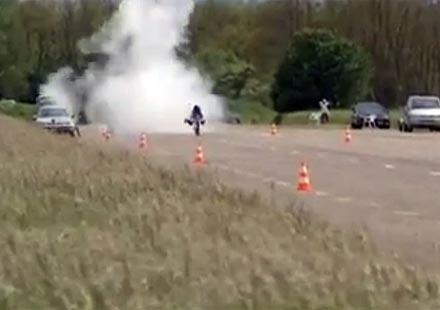 Нов рекорд от 263 км/ч на водороден мотоциклет (видео)