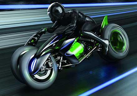 Kawasaki Concept J 2013 – електрическият мотоциклет на бъдещето